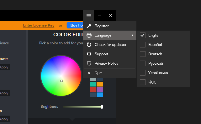 How to change a language in Folder Colorizer 2