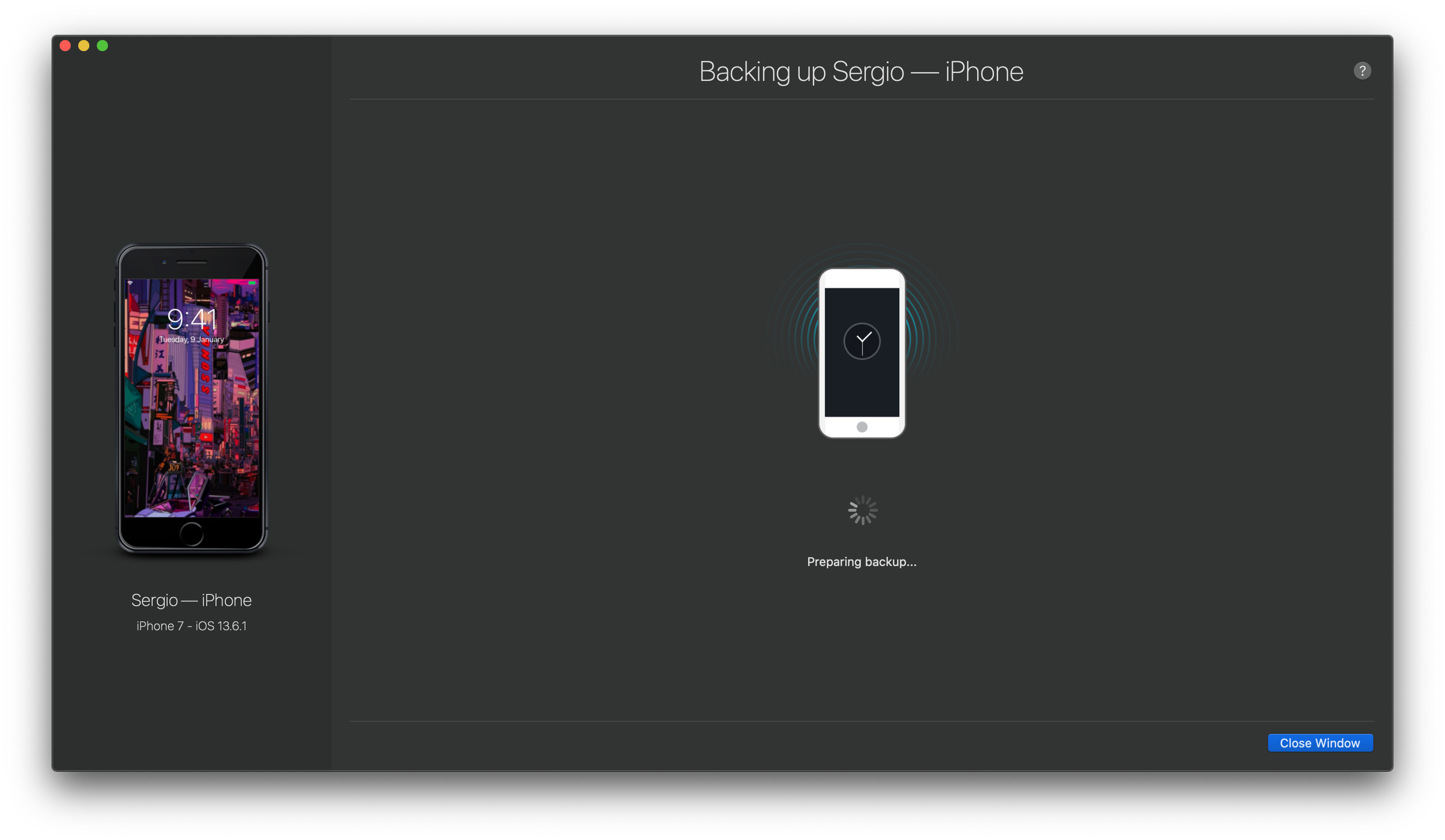 iMazing can backup iPhone in few minutes