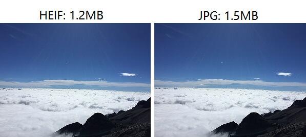 HEIF vs JPG