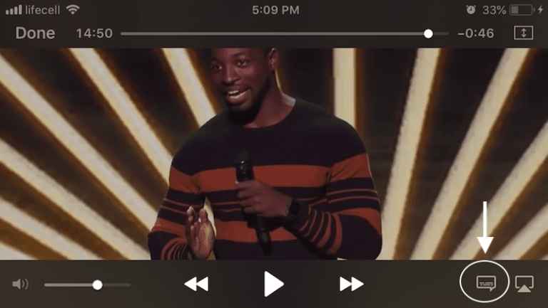 play videos with subtitles on iphone