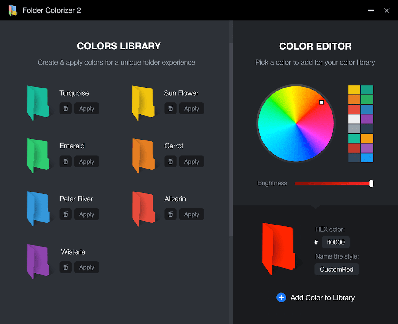 Folder Colorizer for Windows