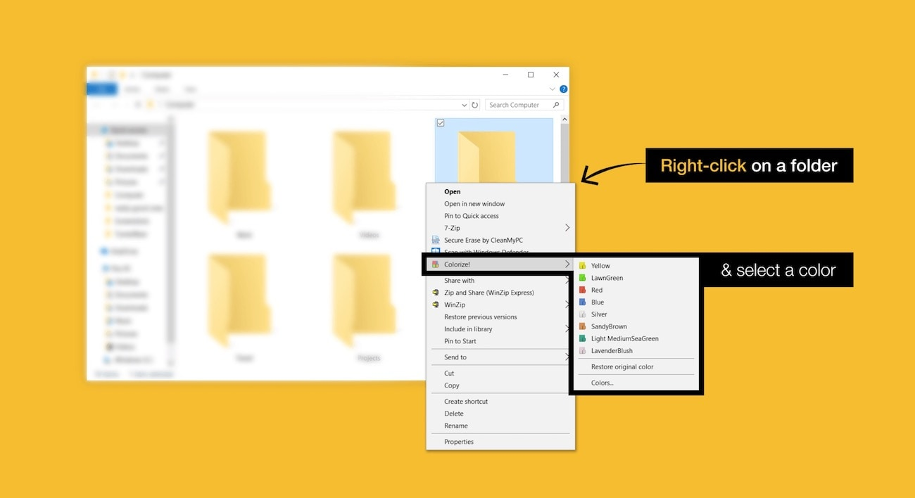 colourize folders in 1 click!