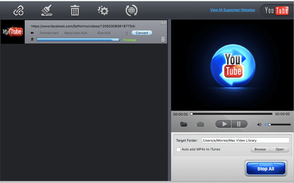 MacX will download YouTube videos on Mac quickly and easily