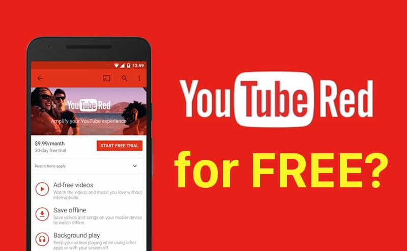 Get YouTube Red free using just one tool