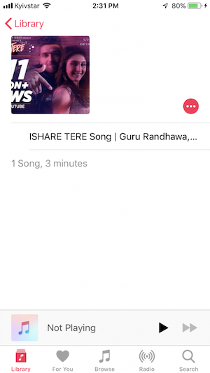 Listen to Dhvani Bhanushali songs on iPhone in the home Music app