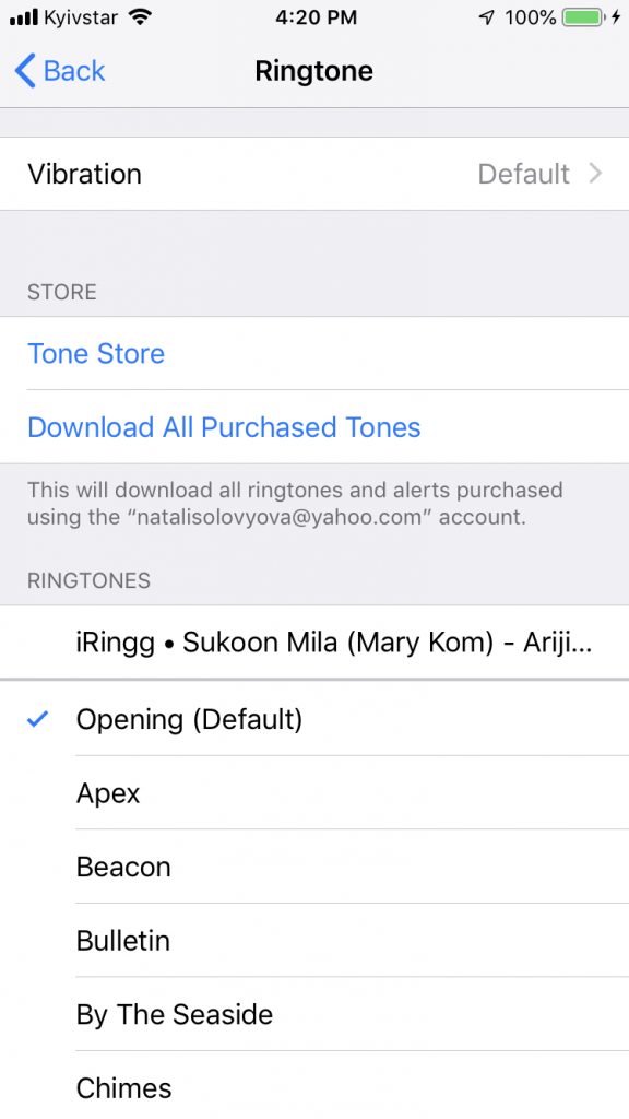 Select the song as your iPhone ringtone in the Sound Settings