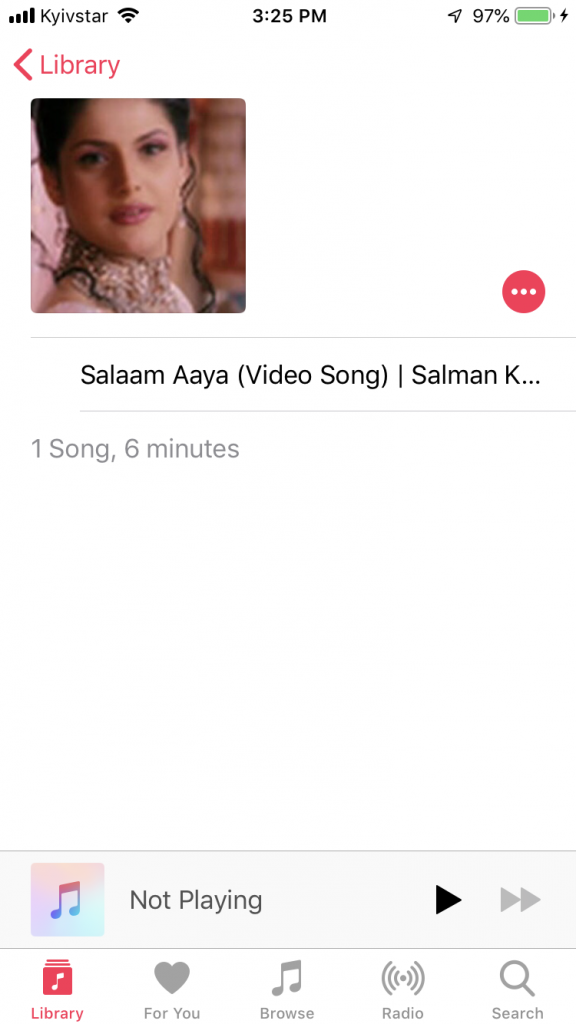 Listen to Salman Khan songs on iPhone in the default Music app