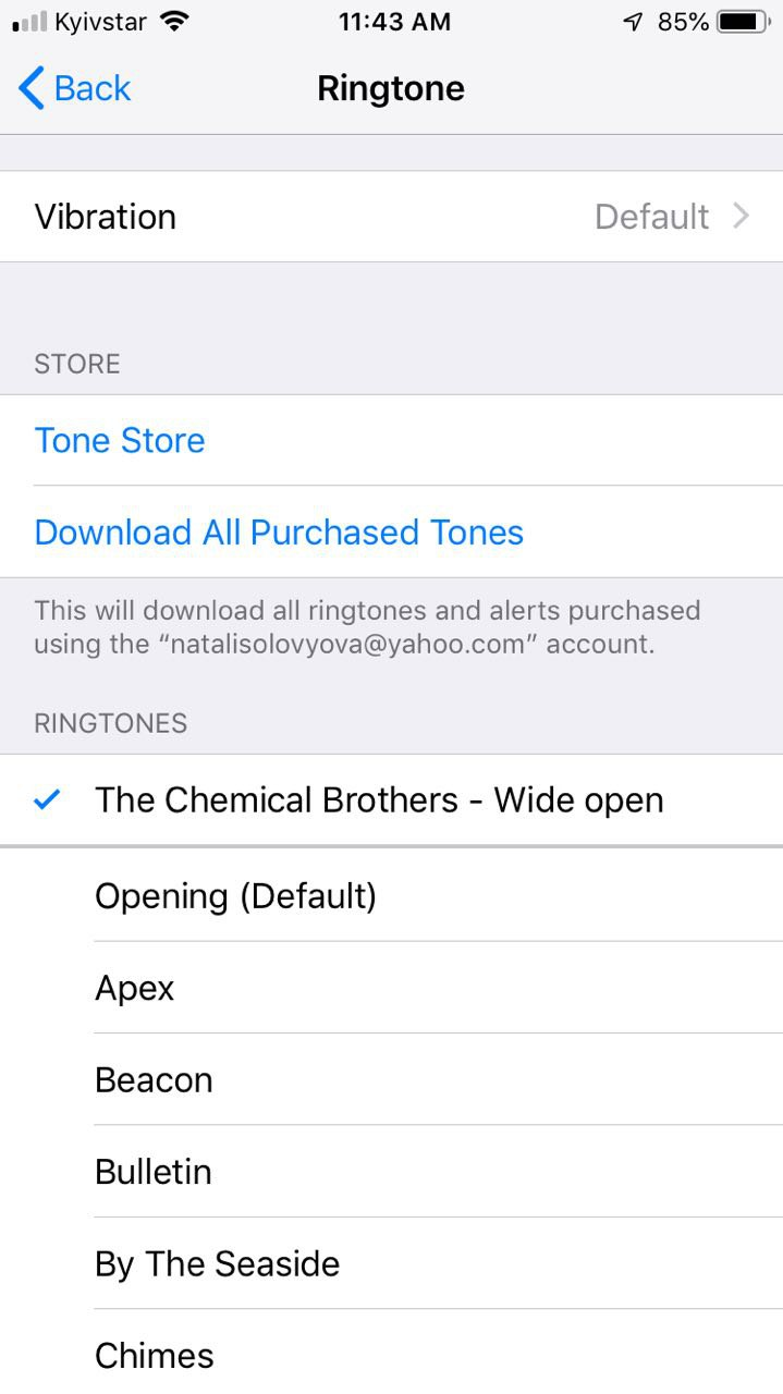 Go to Settings > Tones and see your new ringtone above the default ones