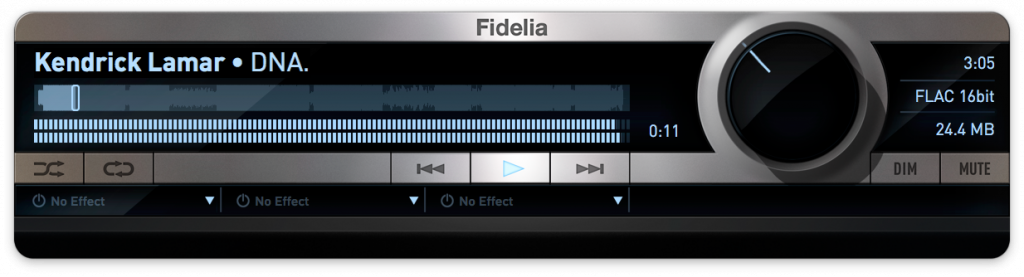 Fidelia player for your tracks