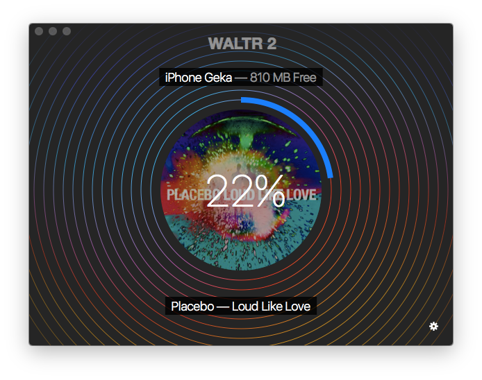 WALTR is transferring flac files to iPhone. When it's finished you can  play flac on iPhone