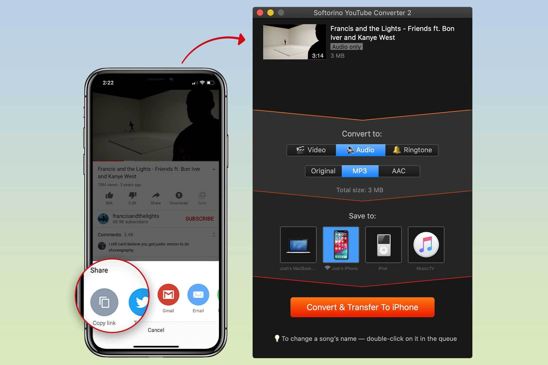 Convert YT videos to MP3