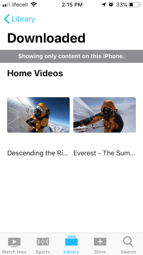 Watch downloaded YouTube Mp4 videos on your iPhone player
