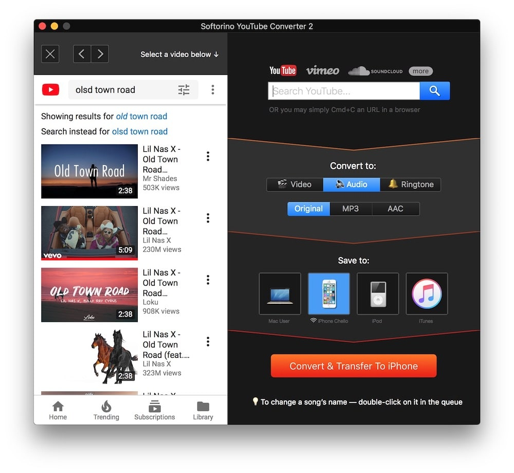 Convertidor de YouTube a MP3 para iPhone
