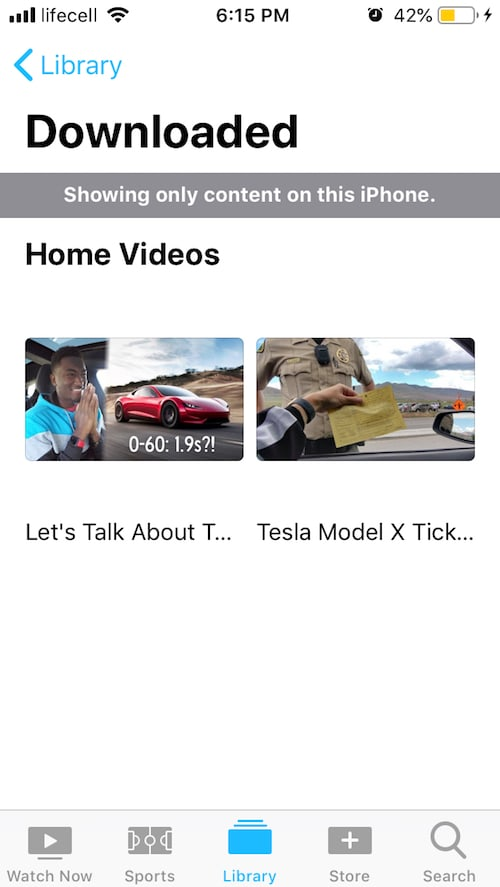 Watch your videos on iPhone!