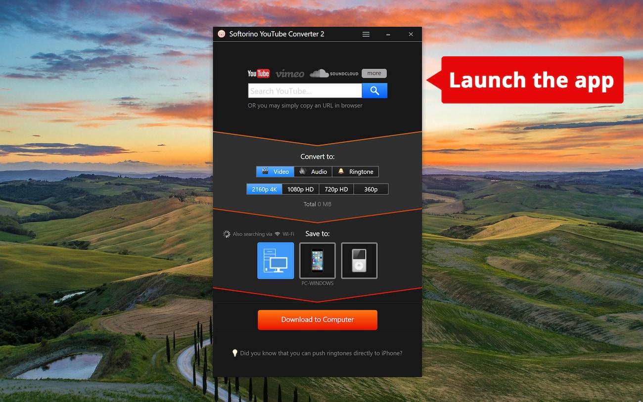 Softorino YouTube Downloader for Windows 7, 8, 10