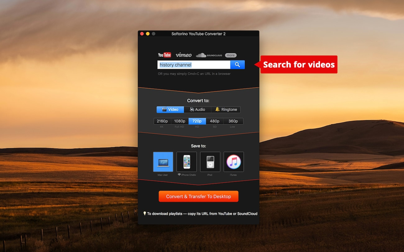 here's an excellent YouTube movie downloader by Softorino