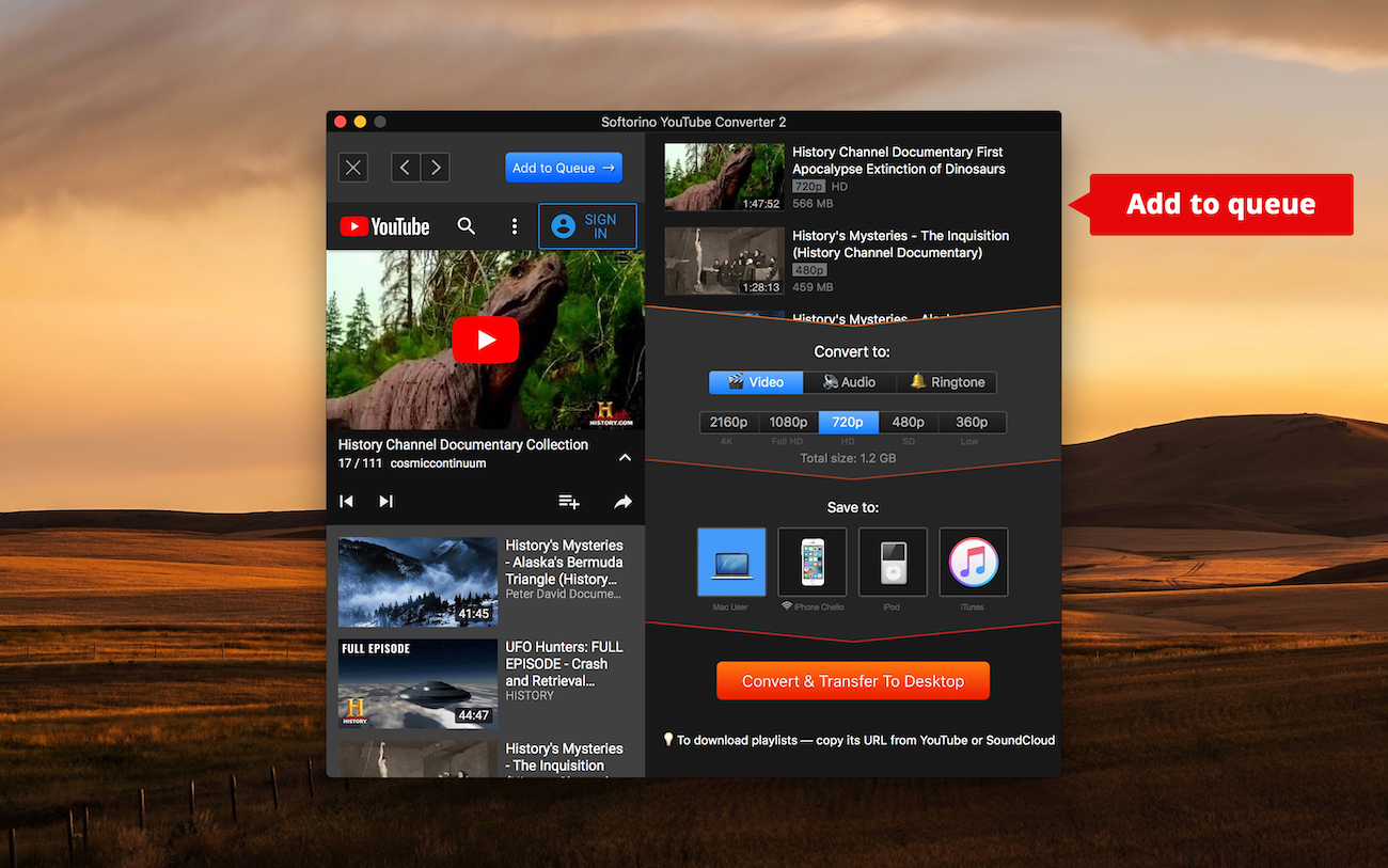 YT to MP4 downloader for Mac and Windows
