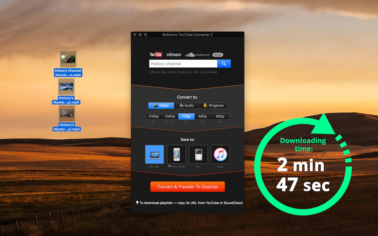 Fast and easy YT to MP4 converter for Mac and Windows