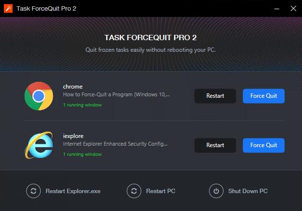 Task ForceQuit Pro 2