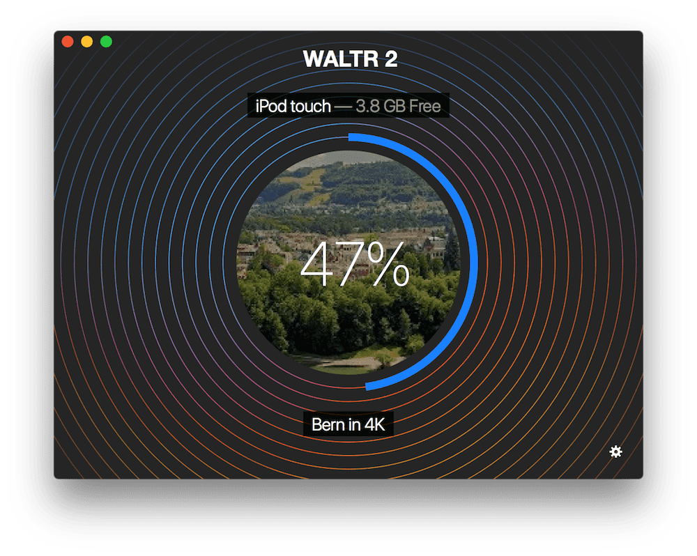 WALTR 2 transferring 4K videos to Apple device