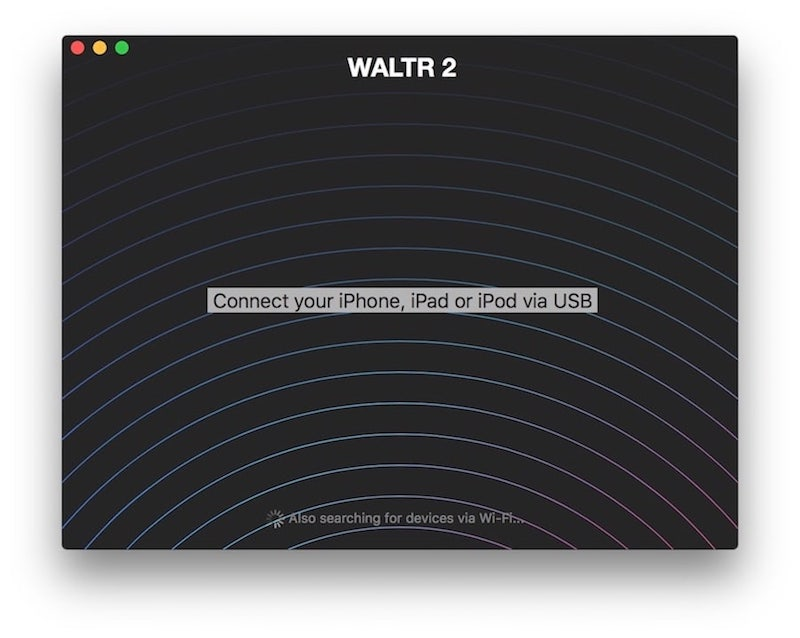 WALTR –a simple utility to copy music to iPhone from Mac or Windows
