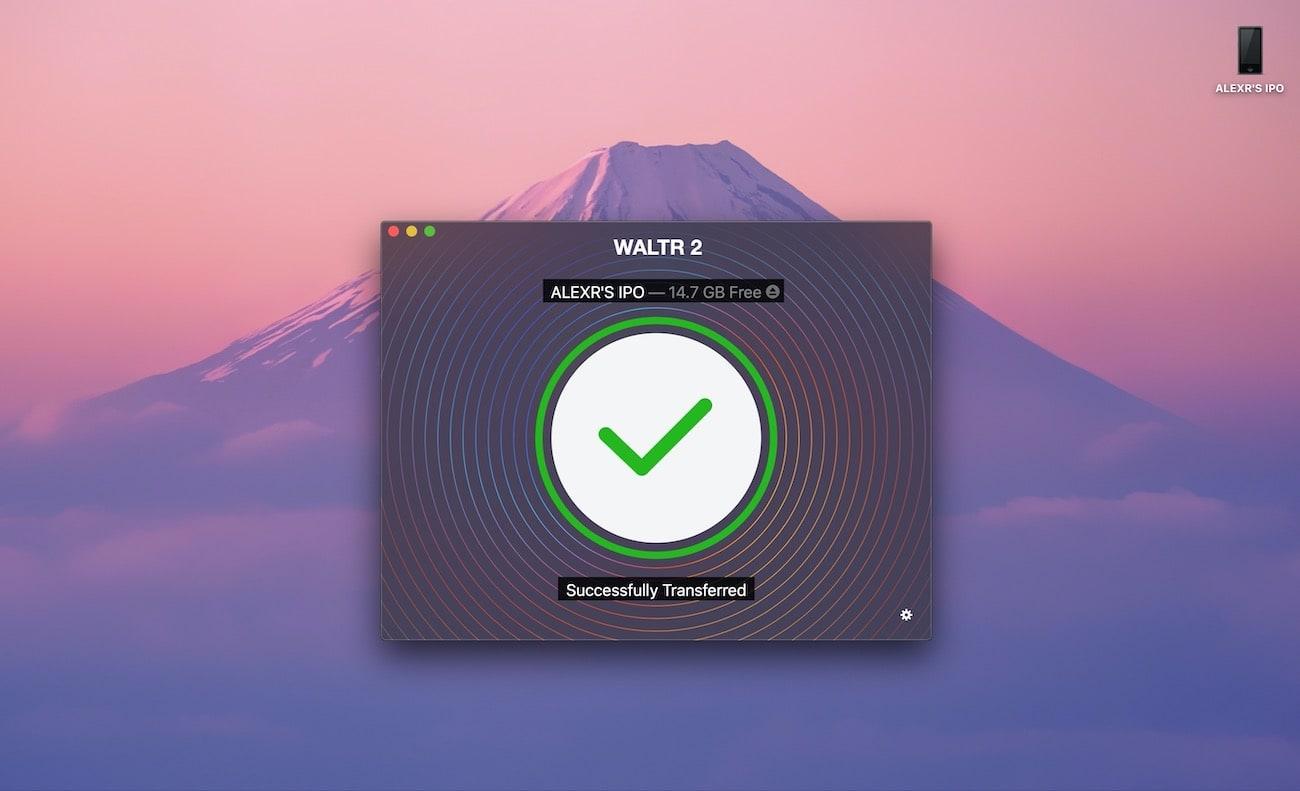 iPod nano, Classic ya da Touch'a müzik eklemek için herhangi bir dosyayı sürükleyip WALTR'a bırakın