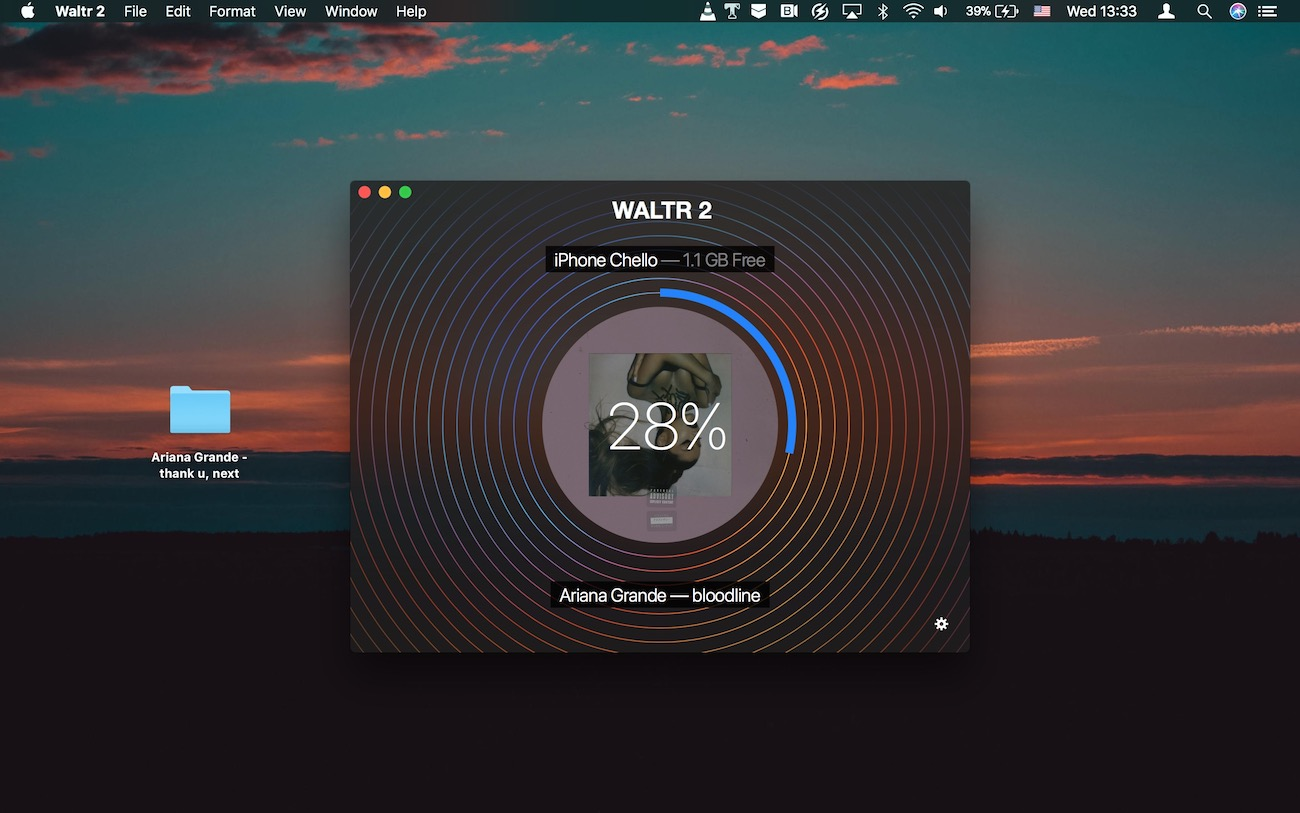 WALTR for macOS transferring music to iPad