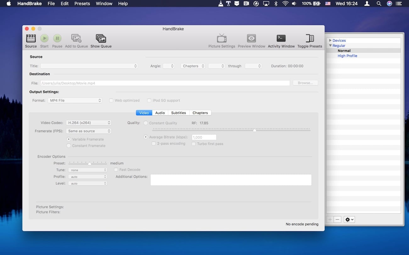 How to use Handbrake for converting movies