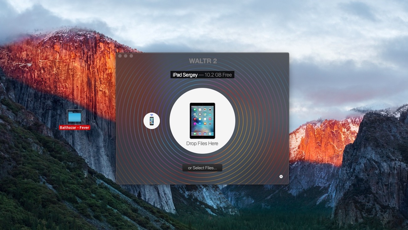 Launch WALTR before dropping your music to iPad