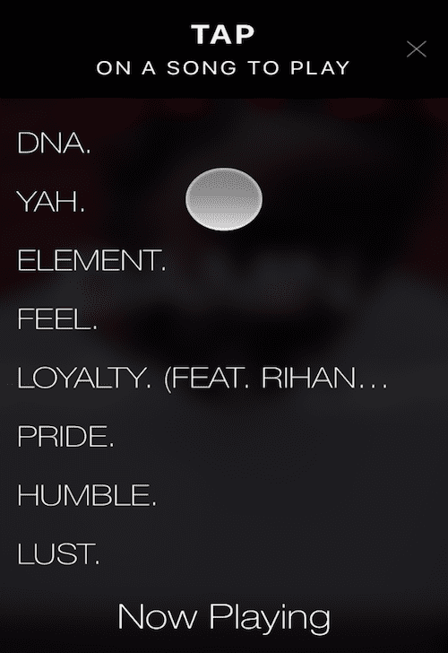 Listen music iPhone app