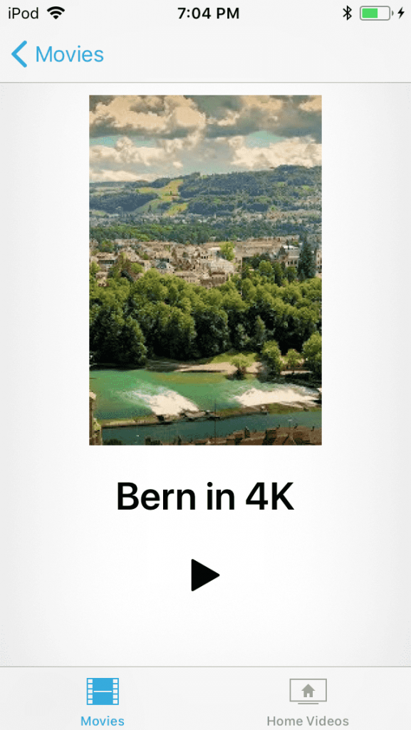 Play 4K on iPhone from the default TV/Videos app