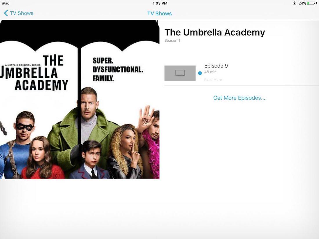 Sehen Sie sich DVDs auf dem iPad in der Standard-TV / Videos-App an