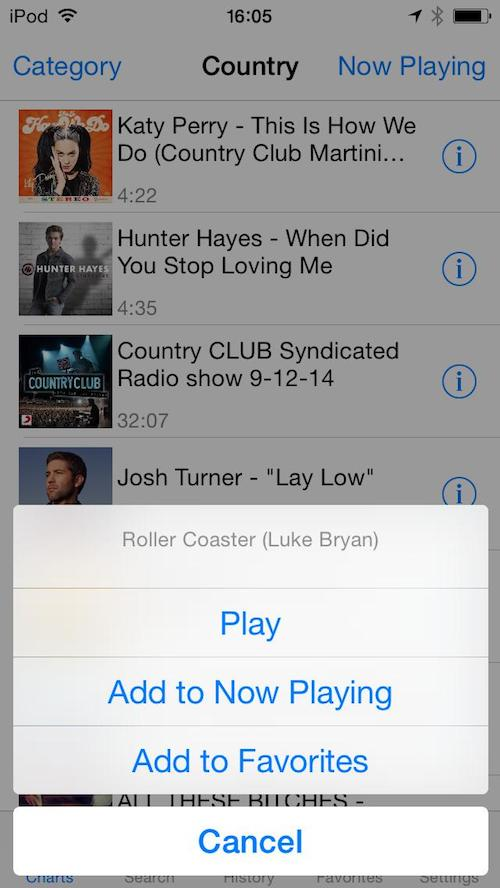 Music Cloud Pro player for iPhone