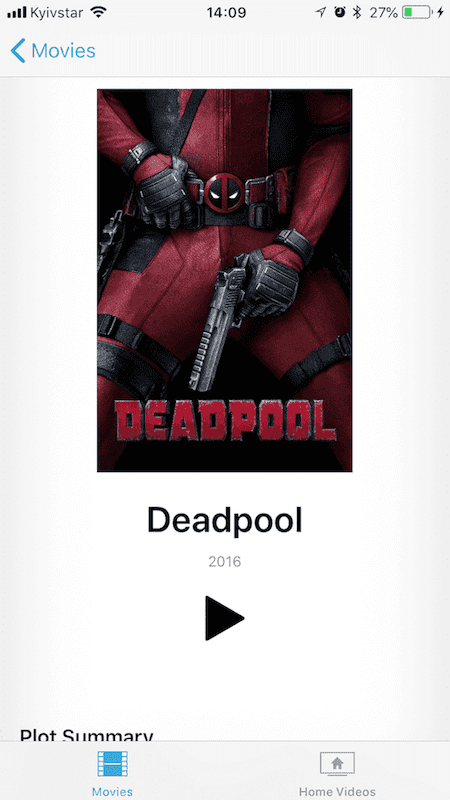 watch Deadpool on iPhone and iPad
