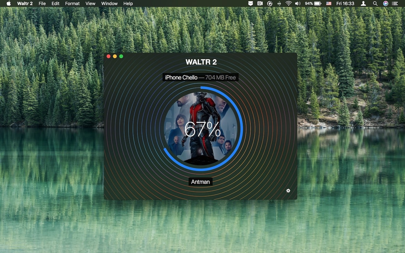 Drag and drop a video into WALTR and it will soon appear in your iPhone