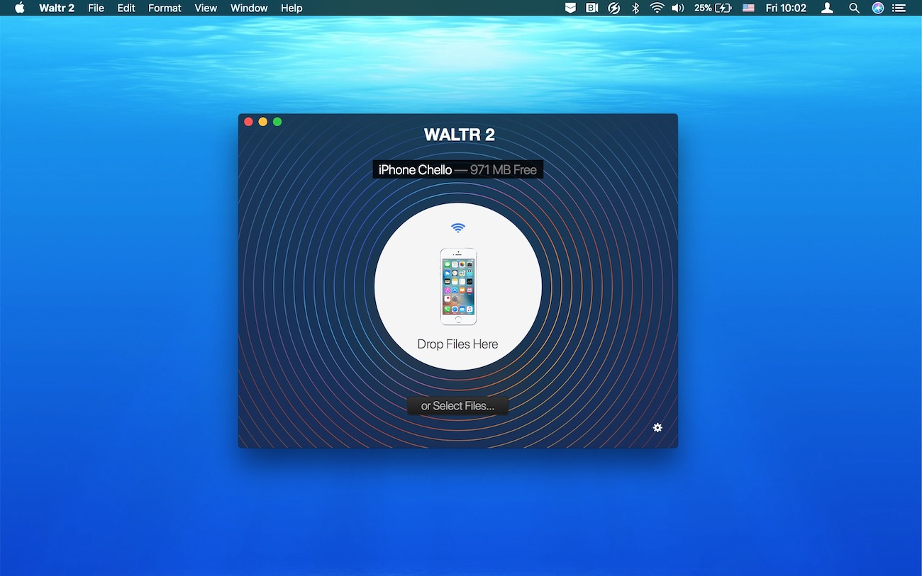 Drag and drop a file into WALTR to play MKV on iPhone and iPad