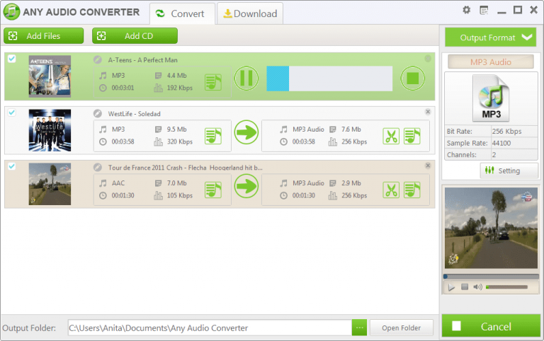 Any Audio Converter can also convert  YouTube to MP3 format