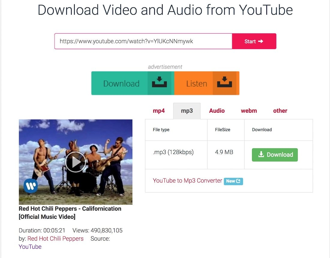 download from youtube online mp3