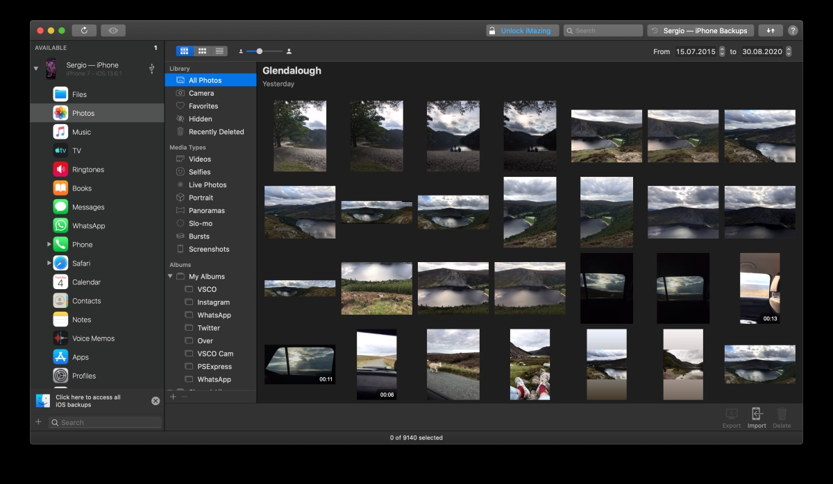 launch iMazing and quickly transfer your photos