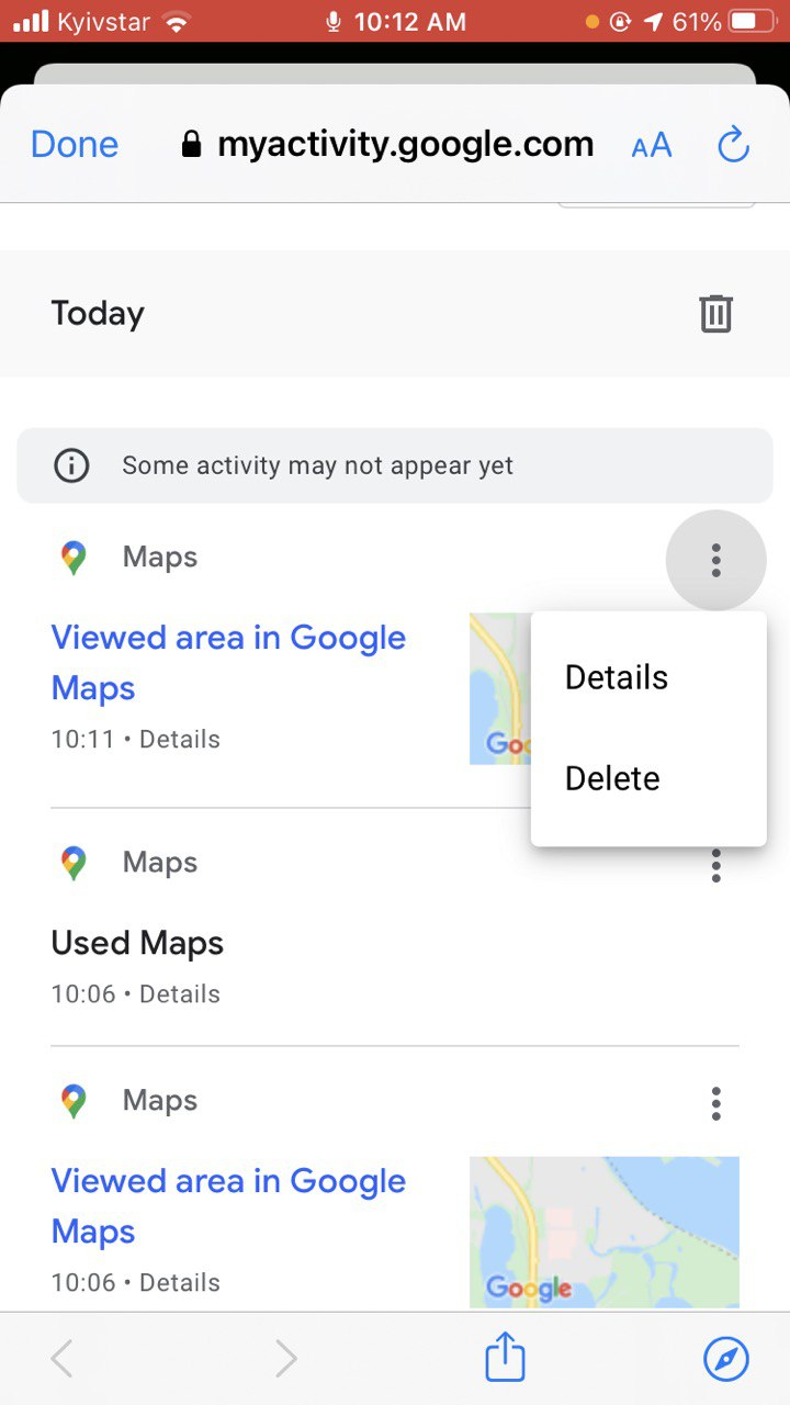 Go to Google Maps and delete your search history