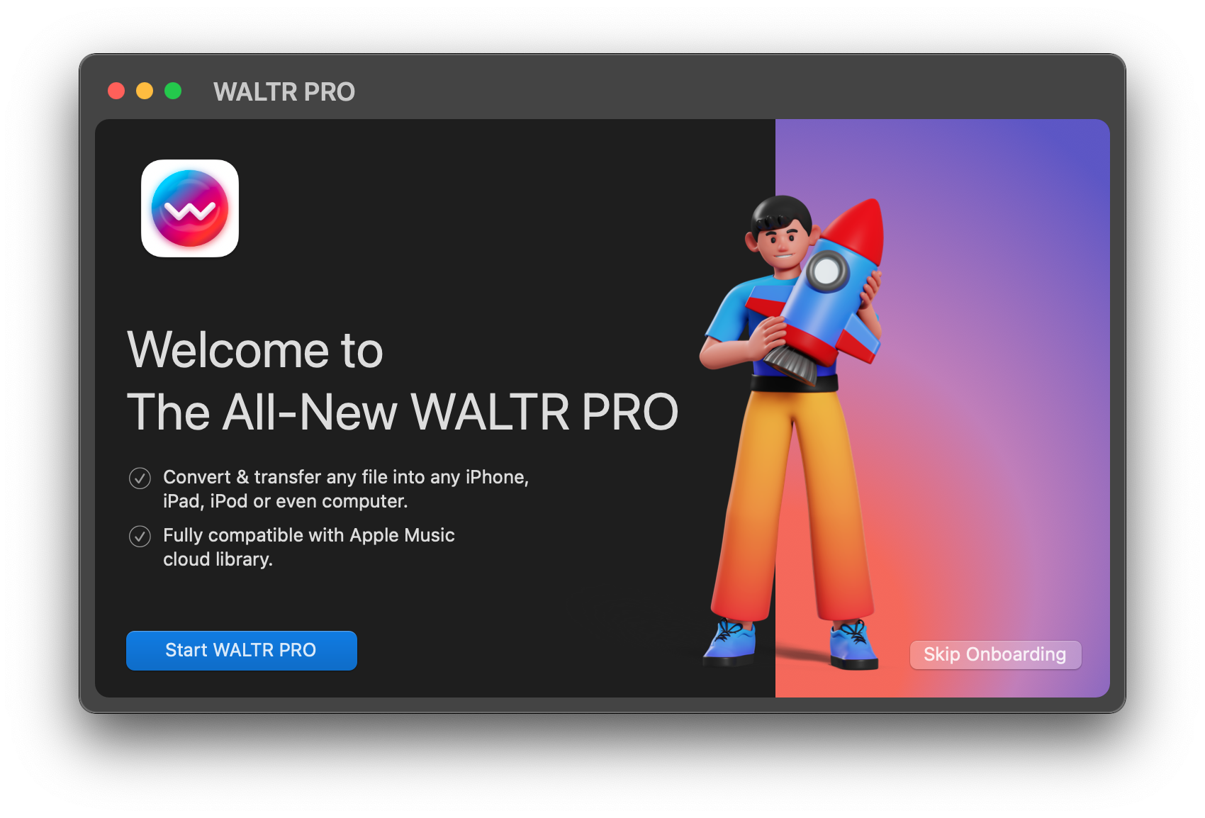 Convert M4V to MP4 using WALTR PRO